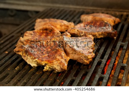 steak barbecue meat  - stock photo