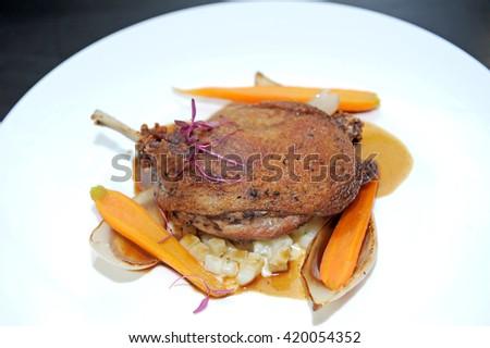 Steak chicken - stock photo