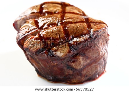Steak closeup - stock photo
