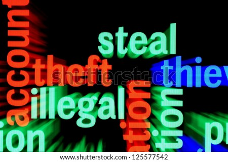 Steal illegal web - stock photo