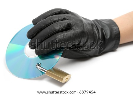 Stealing Data - stock photo