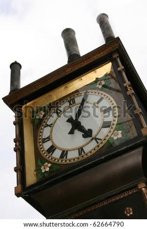 Steam Clock - Historic Gastown in Downtown Vancouver, BC, Canada - stock photo