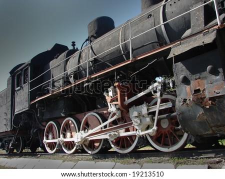 steam engine locomotive - stock photo