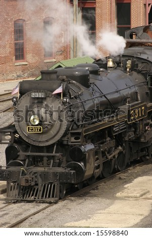Steam Engine with puffing smoke, Full Steam Ahead