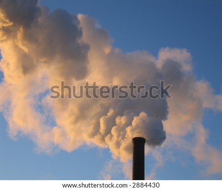 Steam from a Smokestack at Dawn