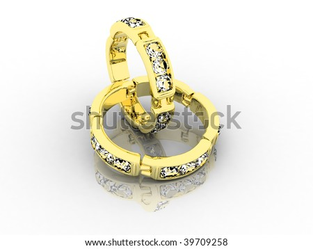 steam gold wedding rings (3 part)