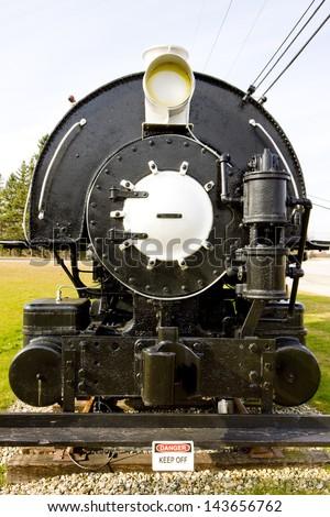 steam locomotive, Groveton, New Hampshire, USA - stock photo