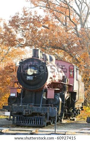 steam locomotive, Railroad Museum, North Conway, New Hampshire, USA - stock photo