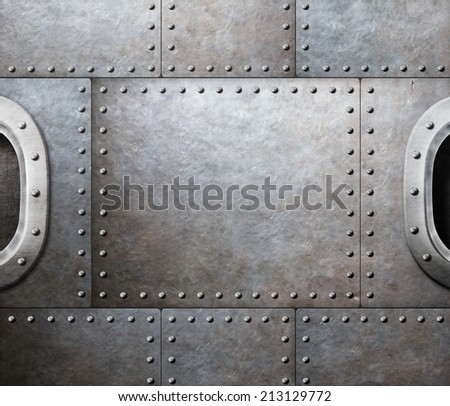 steam punk abstract metal background - stock photo