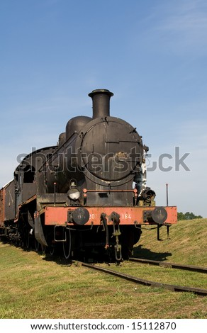 steam train engine in the countryside