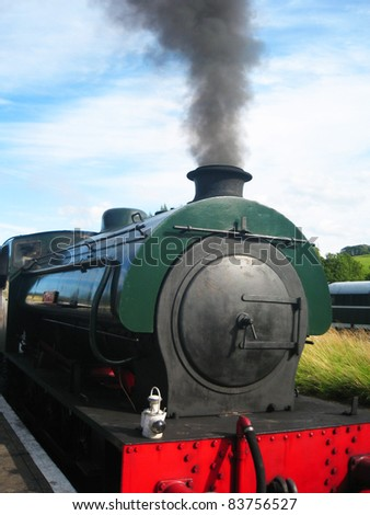 Steam train in Yorkshire, England. - stock photo