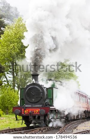 steam train, Strathspey Railway, Highlands, Scotland - stock photo