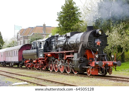 steam train, Veendam - Stadskanaal, Netherlands - stock photo
