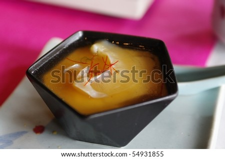 Steam with eggs and shark's fin - stock photo
