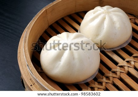 steamed bun - stock photo
