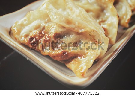 Steamed dumplings - stock photo