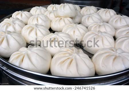 Steamed har gow Dim sum dumpling - stock photo