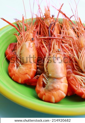 Steaming hot and fresh seafood in Thailand. - stock photo