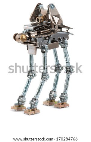 Steampunk robot - stock photo