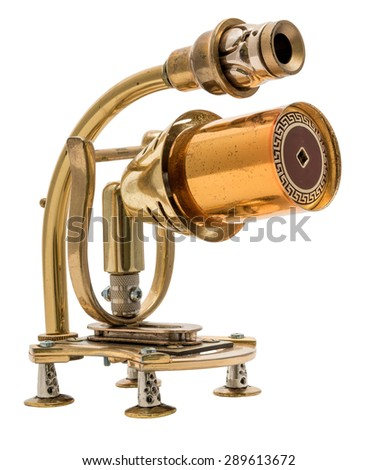 Steampunk toy. Cyberpunk retro style. Steel and bronze parts. - stock photo
