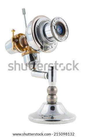 Steampunk toy. Telescope.  - stock photo