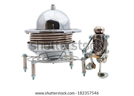 Steampunk UFO - stock photo