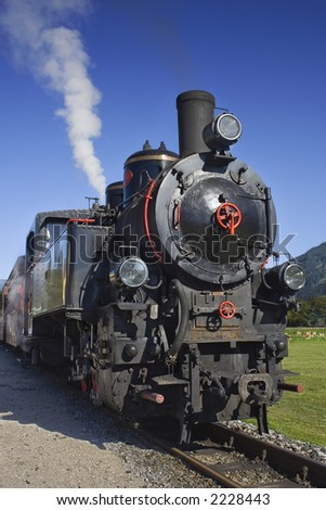 Steamtrain in Austria - stock photo