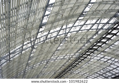 Steel and glass roof construction