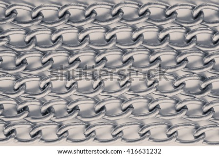 steel animal chain pattern texture for background.