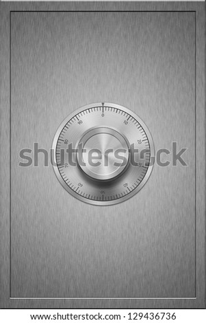 Steel Bank Safe close up - stock photo
