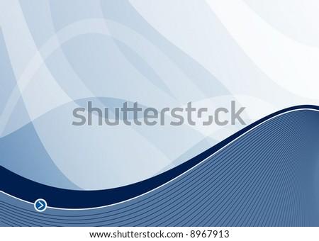 steel blue wave background ideal for presentations - landscape version - stock photo
