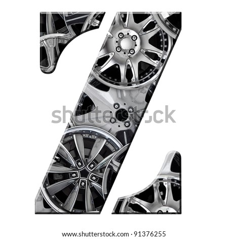 Steel Car Alloy Alphabet Symbol Z Stock Illustration 91376255