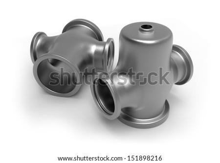 Steel casting - stock photo