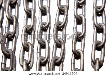 Steel chains - stock photo