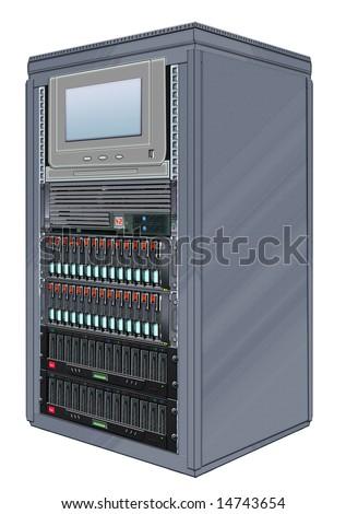 Steel Computer Server Cabinets Stock Illustration 14743657 ...