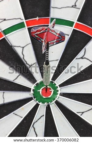 steel dart hit the mark