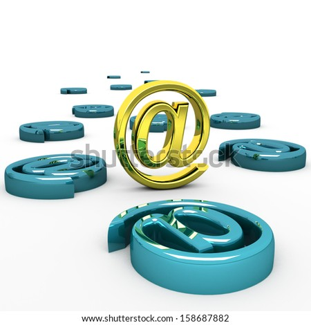 steel e-mail internet  icon 3d  isolated - stock photo