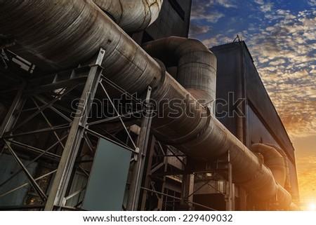 Steel factory industry - stock photo