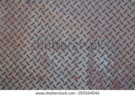 Steel floor rust, Background of metal diamond plate in grungy color. - stock photo
