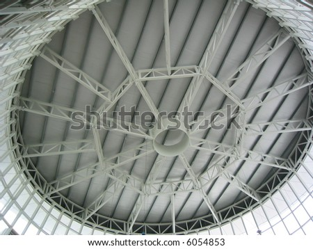 Steel girders forming the inside infrastructure