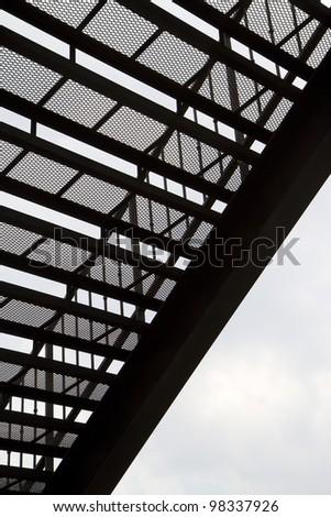 steel ladder pattern silhouette - stock photo