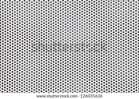 Steel mesh screen - stock photo