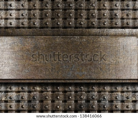 steel metal plate background - stock photo