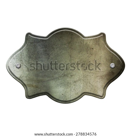 steel metal plate isolated on whit