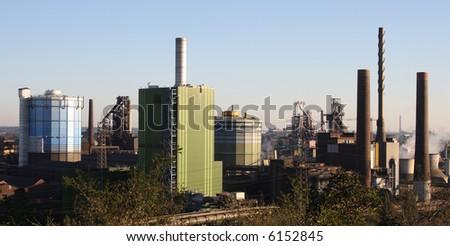 Steel mill in Duisburg - stock photo