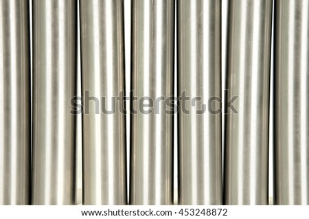 steel pipes on white background - stock photo