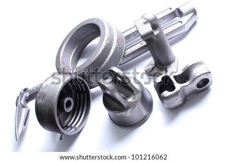 Steel product on white background - stock photo