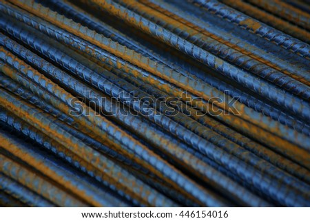 steel rod - stock photo