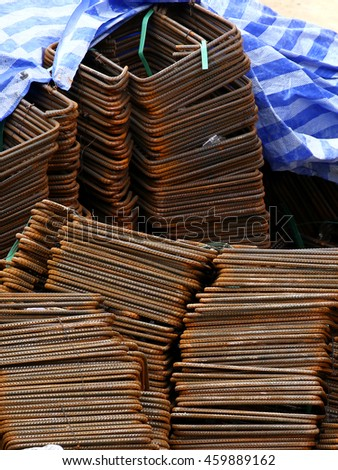 Steel rods - stock photo