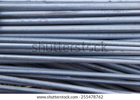Steel rods for construction - stock photo